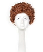 Unisex Short Curly Cosplay Wig Orange