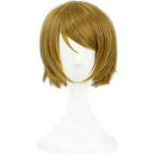 Yesui LoveLive! Love Live! Cosplay Hanayo Koizumi Wig Synthetic Lace Front Wigs Heat Resistant For Women Short Straight Blonde Anime Hair