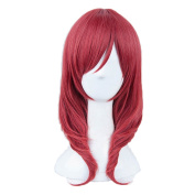 Yesui LoveLive! Cosplay Nishikino Maki Wig Lovely Straight Synthetic Wigs Heat Resistant For Women Red Hair Lace Front Wigs Love Live!