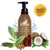 #1 Best Deep Organic Conditioner with Tea Tree Oil, Argan Oil and Coconut Oil 3-in-1 Formula by Keeva - 100% Natural Ingredients - Perfect for Moisturising Damaged, Dry, Curly, Colour Treated Hair