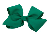 Extra Large Greatlookz Grosgrain Hair Bow in Emerald Green