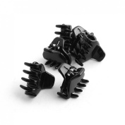 uxcell® Plastic DIY Craft Hair Claw Grip Clip Clamp Hairpin 6pcs Black