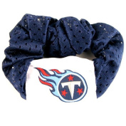 Tennessee Titans Blue Hair Scrunchie - Hair Twist - Pony Tail Holder by NFL
