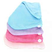 Yinglite Microfiber Hair Turban(6pcs) Drying Towel Bath Head Wrap Turban Size