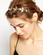STEVE YIWU® Elegant Women Girls Retro Vintage Hollow Leaves Elastic Hair Band Headband Accessory