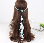 STEVE YIWU® Indian Hippie Feather Tassels Headband Bohemia Style Romany Headdress Hair Accessories