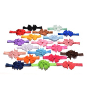 Great Deal 20 Pcs Fishtail Hair Bands Bow Headdress Accessories