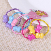 Great Deal 50 Pcs Assorted Elastic Rubber Hair Rope for Kid Girls