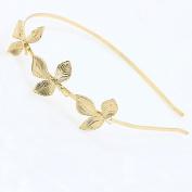 STEVE YIWU® American and European Hot Fashion Retro Golden Three leaves Hair Hoop Bridal headdress