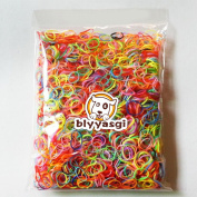 1 Bag Mix Colour Tpu Girls Kids Hair Hold Band Elastic Rubber Bands