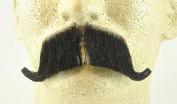 Rubies Colonel Major Moustache BLACK - no. 2014 - REALISTIC! 100% Human Hair