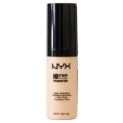 NYX Cosmetics High Definition Photogenic Foundation, Nude, 35ml