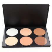 Ucanbe 6 Colour Contour and Highlighting Powder Foundation Palette