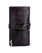 Youngman Elasticized Super Soft PU Leather 18 Slots Pro Roll-up Makeup Brush Pouch Cosmetic Kit Bag