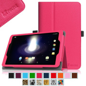 Sprint Slate 8 Tablet Case - Fintie [Slim Fit] Premium PU Leather Standing Folio Cover with Stylus Holder for Sprint Slate 20cm (AQT80) 4G LTE Tablet, Magenta