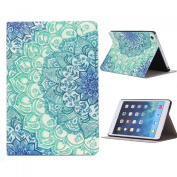 Fullkang Floral Pattern Flip Stand Leather Case Cover for iPad Mini 1 2 3 Retina