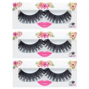 LashXO Lashes- Charisma-3 PK Premium Quality False Eyelashes. Shu Uemura, MAC, Make Up For Ever, and House of Lashes