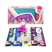 PUEEN Nail Art Stamping LOVE BOX II 02 - 4 Lover Collection Plates - 125x65mm Unique Nailart Polish Stamping Manicure Image Plate Accessories Kit BH000665