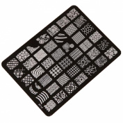 Kingfansion Nail Stamping Printing Plate Image Stamps Plate Nail Art Decor Manicure