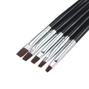 Pentop Nail Art Acrylic UV Gel Salon Pens Flat Brushes Kit Nail Art Brush Tools