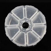 Pandahall Clear Beads Organiser, Plastic Container Round Cabochons Finding Storage, White Clear, 105x105x28mm