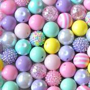 Easter 20mm Bubblegum Bead 50 Piece Bulk Set from Boutique Craft Supplies