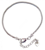 European 20cm Snake Chain Starter Bracelet for Large Hole Beads ~ Twist Off End
