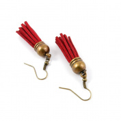 50 Pairs Earring Jewellery Making Charms Antique Bronze Findings Hooks Supplies Wholesale Supply Handmade E1HJ0 Red Wine Tassels
