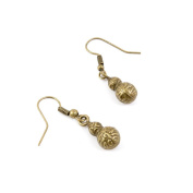 50 Pairs Earring Jewellery Making Charms Antique Bronze Findings Hooks Supplies Wholesale Supply Handmade B2OC3 Gourd