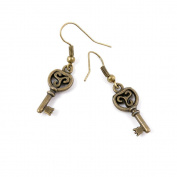 50 Pairs Earring Jewellery Making Charms Antique Bronze Findings Hooks Supplies Wholesale Supply Handmade N7PX6 Fake Key