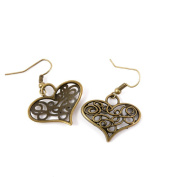 1 Pair Earring Jewellery Making Charms Antique Bronze Findings Hooks Supplies Wholesale Supply Handmade A2LN9 Hollow Heart
