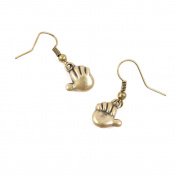 1 Pair Earring Jewellery Making Charms Antique Bronze Findings Hooks Supplies Wholesale Supply Handmade P5MA1 Hand Palm