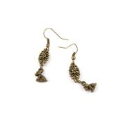 50 Pairs Earring Jewellery Making Charms Antique Bronze Findings Hooks Supplies Wholesale Supply Handmade P2TN8 Dog Puppy