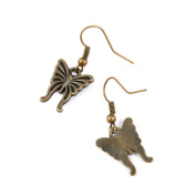 50 Pairs Earring Jewellery Making Charms Antique Bronze Findings Hooks Supplies Wholesale Supply Handmade P7KF9 Butterfly
