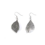 1 Pairs Jewellery Making Antique Silver Tone Earring Supplies Hooks Findings Charms U3FN2 Leaf Leaves