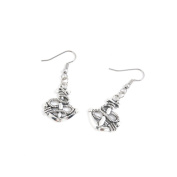 2 Pairs Jewellery Making Antique Silver Tone Earring Supplies Hooks Findings Charms K8WG2 Boat Anchor