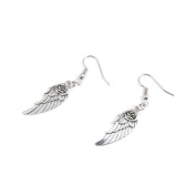 30 Pairs Jewellery Making Antique Silver Tone Earring Supplies Hooks Findings Charms I6YJ6 Flower Angel Wing
