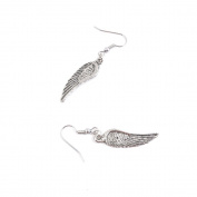 1 Pairs Jewellery Making Antique Silver Tone Earring Supplies Hooks Findings Charms L9JD1 Angel Wings