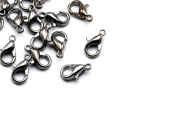 50pcs 10mm Lobster Clasps in Gun Metal Plated, Brass, Chain Clasps. Great Findings Supplies for your Jewellery Projects #SD-S7697