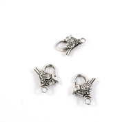 Price per Lot 150 PCS Jewellery Making Charms Antique Silver Tone Colour Jewellery Charme Findingss Bulk Wholesale Suppliers Arts Crafts E2FE7 Bird Lobster Clasps