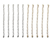 Necklace-Bracelet 10cm Extenders 10 Piece Silver & Gold Tone ~ 5 Pieces Each Colour