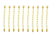 Necklace-Bracelet 5.1cm Extenders 10 Piece Gold Tone