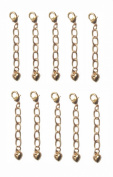 Necklace-Bracelet 2.5cm Extenders 10 Piece Gold Tone