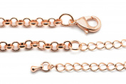 SALE 3pcs Rolo Chains with Clasps in Rose Gold Plated, 4.5mm x 4.5mm Rolo Links, 56cm + 10cm Chain Extender, Iron Chains SD-S6894