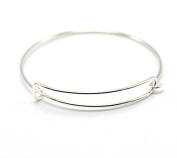 5pcs Shiny Silver White Expandable Wire Bangle Bracelet for Charms Adjustable for Stacking Charm Bracelets Bracelet Blanks