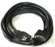 Focuslife 7.6m 15 PIN SVGA SUPER VGA M M Male To Male Cable CORD FOR Monitor PC TV
