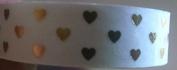 Valentine Washi Tape - Valentine White with Gold Hearts