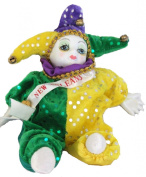 Porcelain Baby Clown Doll Mardi Gras New Orleans