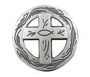 Screw-eye Cross Concho Button Biker Leathercraft Clothing Accessory