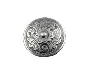 Screw-eye Silver Colour Western Flower Metal Button Concho Bag Belt Wallet Leathercraft